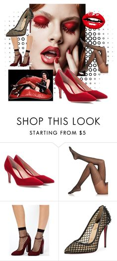 """Catch the Fish Net"" by paroliro ❤ liked on Polyvore featuring Paul Frank, Gianvito Rossi, Wolford, ASOS, Christian Louboutin, jimmychoo, Bazaar, GianvitoRossi and wolford"