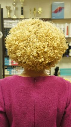 very tight perm style