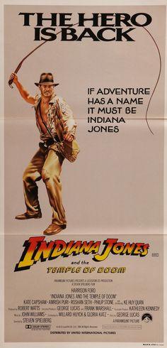 Indiana Jones & the Temple of Doom (1984) Vintage Australian Movie Poster