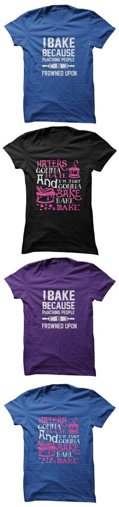 I Bake Because Punching People is Frowned Upon - Click to Get Yours!