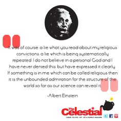 Albert Einstein #atheist quote by The Celestial Teapot magazine. Check out www.facebook.com/celestialtpot