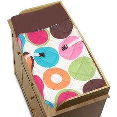 Deco Dot Baby Changing Pad Cover by Sweet Jojo Designs -- Click image to review more details.Note:It is affiliate link to Amazon.