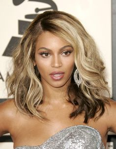 Beyonce Hairstyles ombre color hair ideas.... but opposite with the dark outside and the lighter showing through under