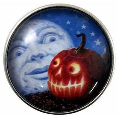 #3206 Moon-Jack-O-Lantern Snap 20mm for Snap Jewelry