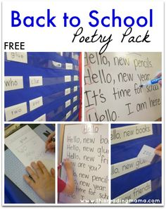 FREE Back to School Poetry Pack ~ featuring original poetry and 8 interactive poetry activities {designed for K-2nd grades} | This Reading Mama