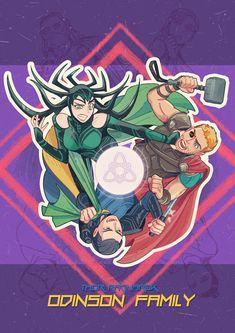Thor: Ragnarok    Loki,Hela - Odinson Family