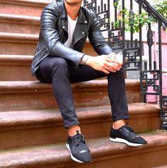 Simplr • Instagrammer louisnicolasdarbon in a black leather...