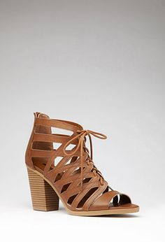 Caged Faux Leather Sandals | Forever 21 | #stepitup