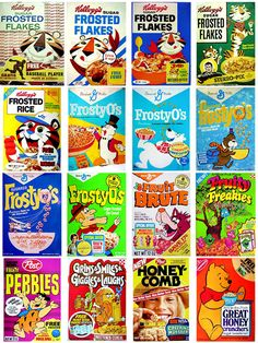 Kids don't know that we used to pick our cereal by the prizes.
