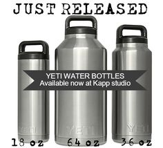 YETI Rambler personalized 18 oz water bottle with name in black