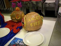 Angry Birds pumpkin -