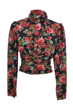 #Ungaro #roses #flower #red #fashion #onlineshopping #vintage #secondhand #clothes #designer #MyMint #blouse #top