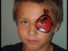 Angry Bird Eye Face Painting   Marvelous Masks Chicago Face Painting