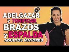 Rutina para Adelgazar y Tonificar BRAZOS y ESPALDA en Adultos Mayores - YouTube Youtube, T Shirt, Women, Physical Therapy, Tone It Up, Cufflinks, Workout Exercises, Massage, Arms