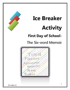 Your students should be communicating, sharing, evaluating and writing from day one! This engaging pair and share activity will have them doing jus...