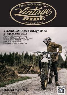 La Milano Sanremo sarà l'evento ispirato alle grandi classiche di regolarità  dedicato alle moto  artigianali, special, Scrambler ed Enduro Vintage #tassellovintage #sterratovintage #vintage #scramler