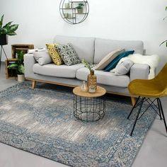 Mint, Living Room Interior, Living Room Designs, Blue Grey, Modern Design, Sweet Home, New Homes, House Design, Pillows