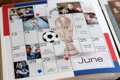 scrapbook baby book with calendar pages to record babies first