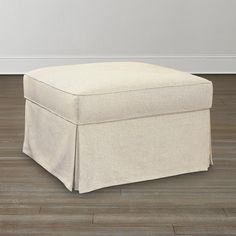 Square Ottoman Slipcover - Home Furniture Design Ottoman Slipcover, Slipcovers, Classic Home Furniture, Square Ottoman, Classic House, Living Room Furniture, Furniture Design, New Homes, House Ideas