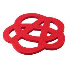 Verso Design for Iittala - Rinkeli trivet red, wool felt Wool Felt, Red, Design, Wool Felting, Design Comics