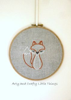 Mr Fox by Arty and Crafty Little Things | Project | Embroidery / Decorative | Accessories | Kollabora #diy #kollabora #embroidery #fox