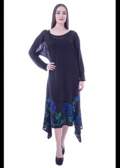 Rochie tricot negru, impaslit manual Nasa, Tunic Tops, Women, Fashion, Tricot, Moda, Women's, Fashion Styles, Woman