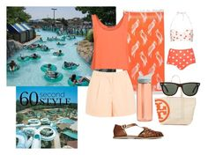 A Day at the Water Park by katrina259 on Polyvore featuring polyvore, fashion, style, MINKPINK, Topshop, Miss Selfridge, ASOS, Tory Burch, Ray-Ban, Sunnylife, CamelBak and waterpark