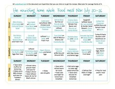 FREE Bi-Weekly Whole Food Meal Plan for July 20–August 2! Delicious and healthy recipes!