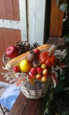 Podzimní+košík+Bohatý+podzimní+košík.+Délka+21cm,šířka+21cm,výška+20cm. Boho, Vegetables, Bohemian, Vegetable Recipes, Veggies
