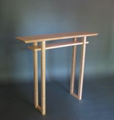 Classic Hall Table: Narrow Console for Entry/ Tables Handmade from Solid Wood- Furniture for Hallway Classic Hall Table: Modern Wood Furniture- Handmade Foyer Table, Narow Console Table, Narrow Side T Handmade Wood Furniture, Modern Wood Furniture, Custom Furniture, Table Furniture, Furniture Design, Entry Furniture, Furniture Storage, Living Furniture, Kitchen Furniture