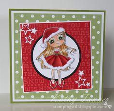 Santa Baby Whimsy stamps Jo Davies