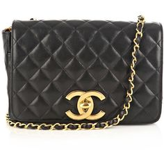 Chanel vintage bags BLACK ($4,395) ❤ liked on Polyvore featuring bags, handbags, shoulder bags, purses, accessories, chanel, quilted hand bags, vintage handbags purses, retro purses and handbags shoulder bags