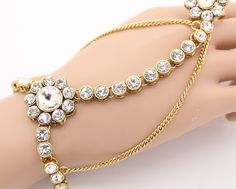 Kundan hand piece indian panja