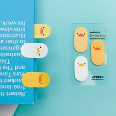 Smile sticky memo notes bookmark tabs - duck by JSTORY. Put the sticky memo inside book to use as a bookmark. Stationary Supplies, Cute Stationary, Planner Supplies, Planner Ideas, Planners, Cute Office Supplies, Kawaii Stationery, Too Cool For School, Office Accessories