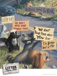 Save The Planet ● Critters Against Litter Save Planet Earth, Save Our Earth, Save The Planet, Our Planet, Salve A Terra, Angst Quotes, Funny Animals, Cute Animals, St Just