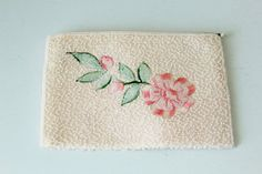 Vintage Walborg Beaded Zippered Pouch With by foundundertheeaves, $14.00