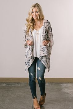 Cute Kimonos for Women – Morning Lavender, Kimonos, Fall Fashion, Outfit Inspiration, Floral Kimonos
