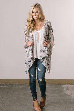 Cute Kimonos for Women – Morning Lavender, Kimonos, Fall Fashion, Outfit Inspiration, Floral Kimonos