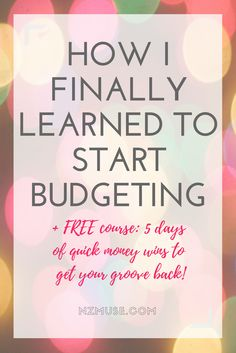 We used to struggle so much with money and making a budget. Here's how we finally figured it all out and start budgeting as a couple!