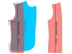 grainline blazer lining pattern tutorial