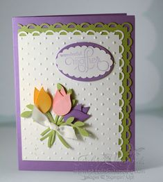 punch+art+ | adorable mother s day card that features punch art tulips