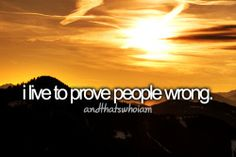 i live to prove people wrong.
