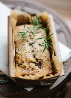 Rosemary & bittersweet chocolate quick bread (made with olive oil)