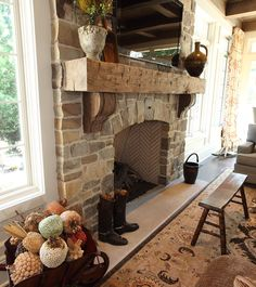 new Ideas for farmhouse fireplace makeover french country – Fireplace Farmhouse Fireplace Mantels, Rustic Fireplaces, Home Fireplace, Fireplace Remodel, Brick Fireplace, Fireplace Surrounds, Fireplace Ideas, French Country Fireplace, Rustic Mantle