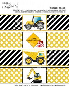 INSTANT DOWNLOAD Construction Party Printable by DesignsbyLindaNee