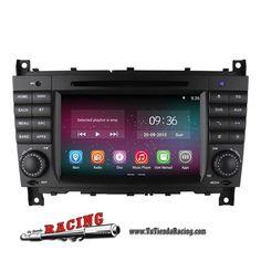 Consola Ordenador de a Bordo GPS DVD Radio 2GB RAM 1024X600 Android Para Mercedes Benz Clase-C CLK -- 324,53€
