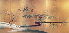 Sakai Hôitsu 酒井抱一 (Edo 江戸 1761-1828) a passé sa vie à travailler dans le style de Ogata Kôrin 尾形光琳 et à le faire connaître. ...