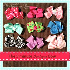 Huckleberry Love: The 5 Minute Boutique Style Bow