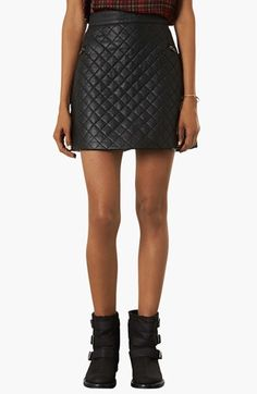 Topshop Quilted A-Line Skirt | Nordstrom