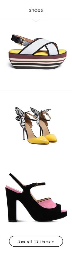"""""""shoes"""" by phoenixstarr15 ❤ liked on Polyvore featuring shoes, sandals, обувь, summer platform shoes, summer shoes, platform shoes, mesh shoes, marni sandals, pumps and heels"""